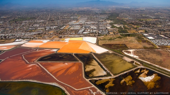 Evaporation Ponds, Lagoons, wetlands, San Diego, California