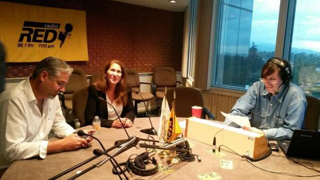 Eduardo Najera and Fay Crevoshay of WILDCOAST on Radio Red in Mexico City.